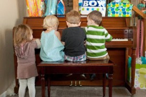 child piano playing